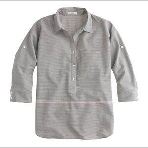 J crew boyfriend popover shirt placed stripe
